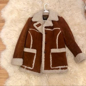 Penny lane vintage suede and shearling coat